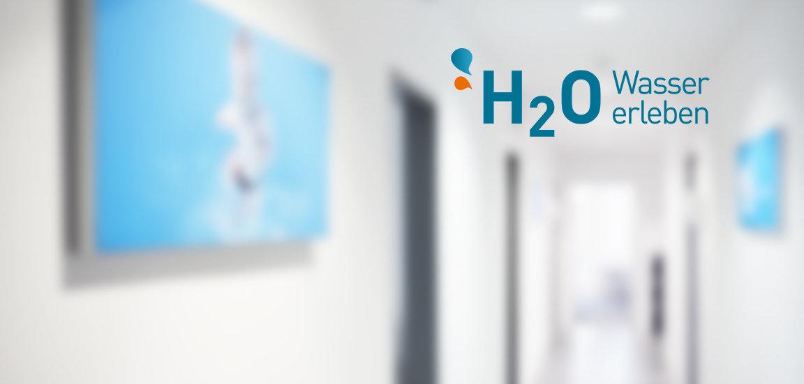 H2O Wasser erleben Büro